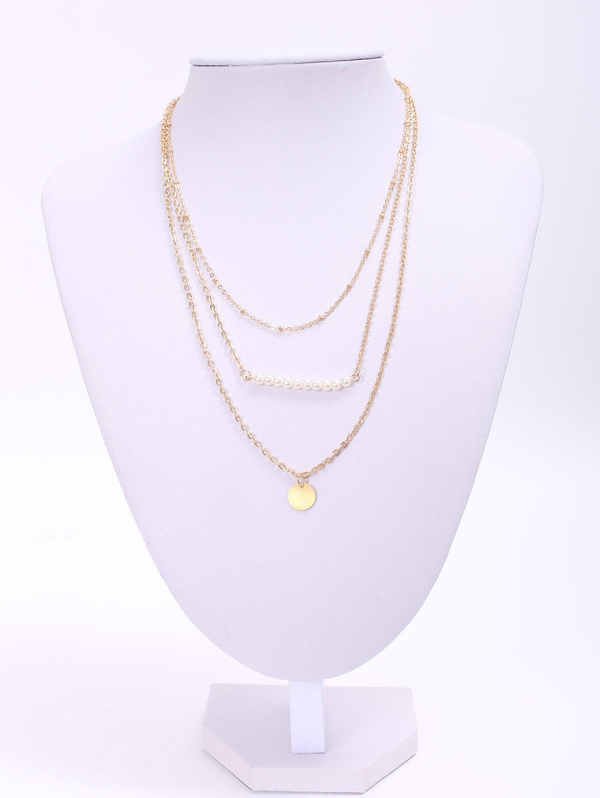 Attractive Solid Color Sequins Embellished Multi-Layered Women's Necklace
