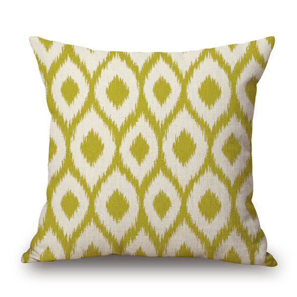 Stylish Contracted Geometric Pattern Cotton and Linen Pillow Case(Without Pillow Inner) - COLORMIX