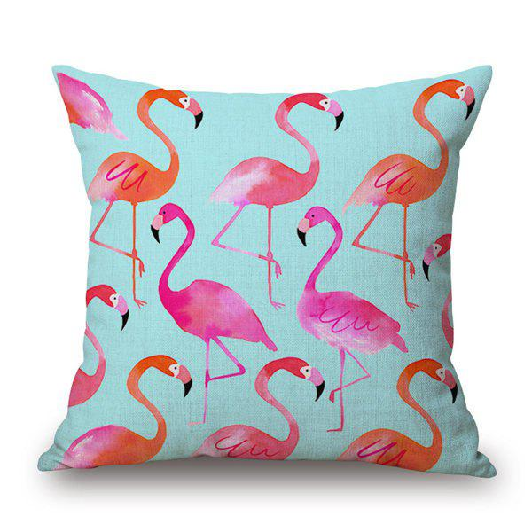 Beautiful Swan Pattern Watercolor Cotton and Linen Pillow Case(Without Pillow Inner) - COLORMIX