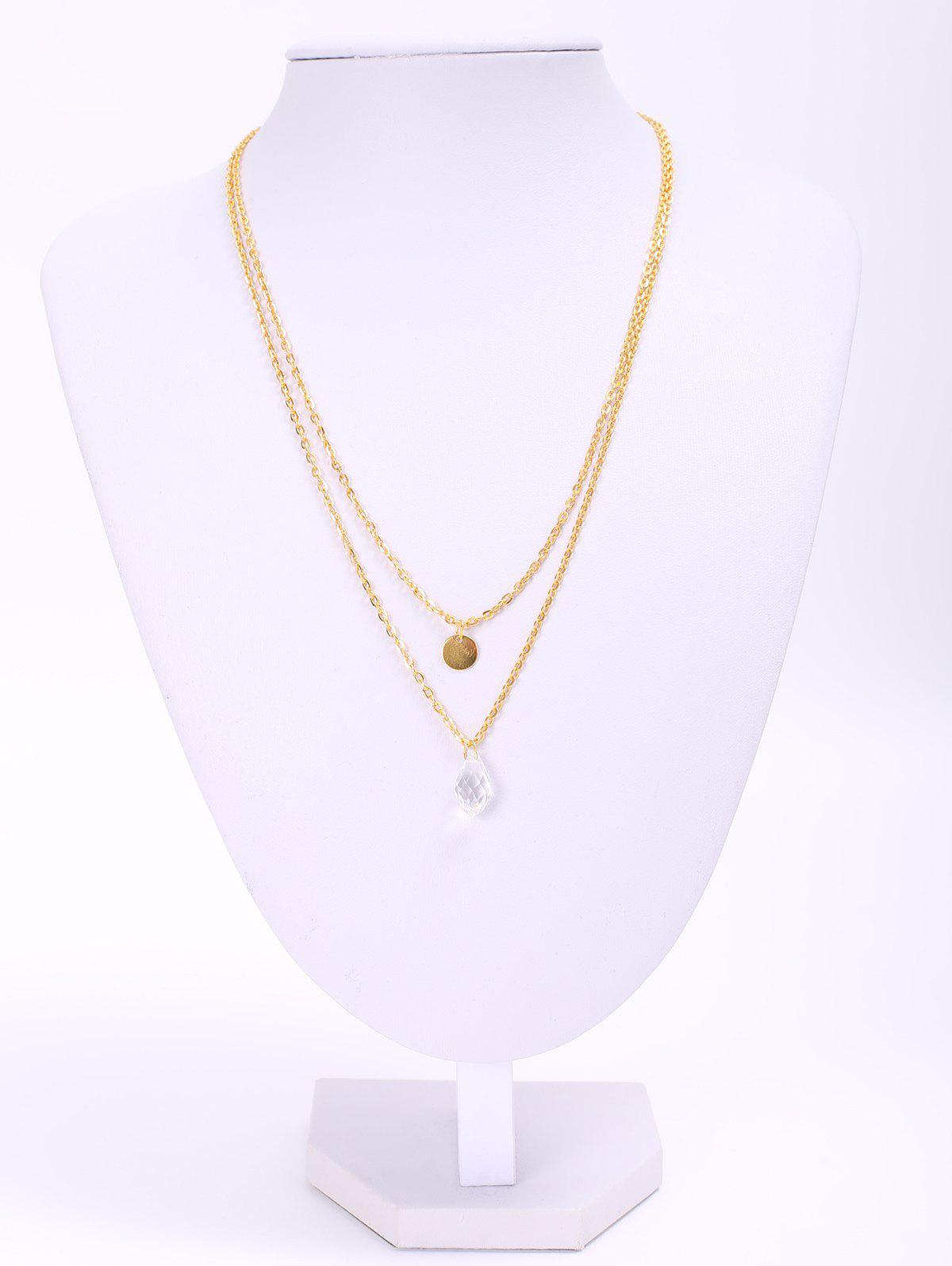 Stylish Waterdrop Double-Layered Women's Necklace