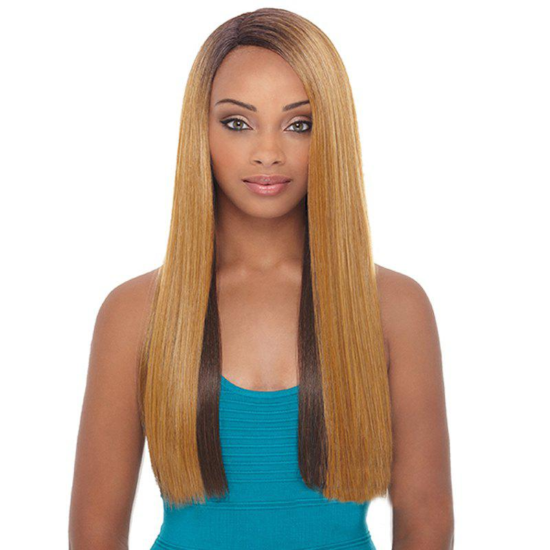 Trendy Mixed Color Side Parting Synthetic Silky Straight Long Women's Capless Wig - COLORMIX