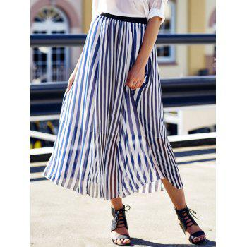 Women's Stylish High Waist Vertical Striped Skirt