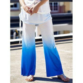 Stylish Elastic Waist Loose Fitting Ruched Ombre Women's Pants
