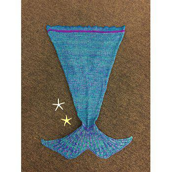 Chic Quality Knitted Falbala Shape Mermaid Tail Design Blankets For Baby - COLORMIX COLORMIX