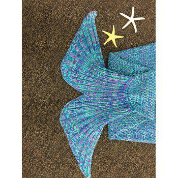 Chic Quality Knitted Falbala Shape Mermaid Tail Design Blankets For Baby -  COLORMIX