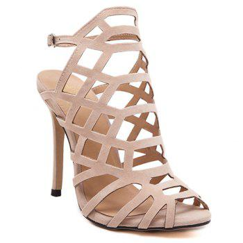 Fashionable Stiletto Heel and Suede Design Women's Sandals