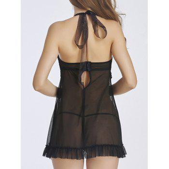 Stylish Women's Halter See-Through Babydoll - XL XL