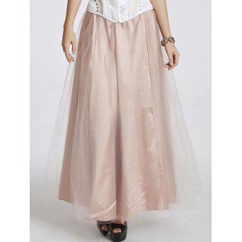 Stylish Women's High Waisted Tulle Maxi Skirt