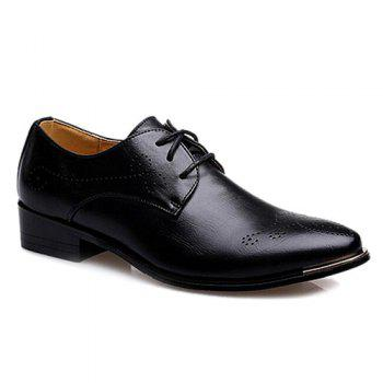 Vintage Pointed Toe and Engraving Design Men's Formal Shoes