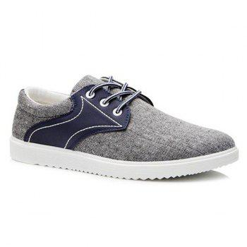 Stylish  Splicing and Lace-Up Design Men's Casual Shoes