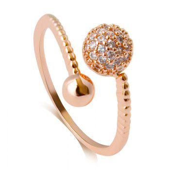 Rhinestone Ball Opening Ring