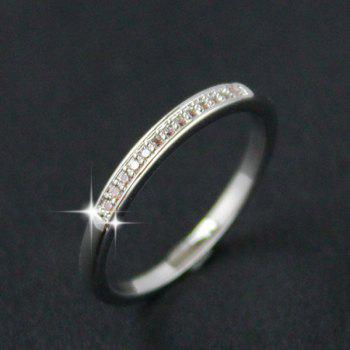 Faux Zircon Ring - SILVER ONE-SIZE