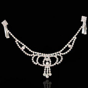 Delicate Rhinestone Hollow Out Pendant Forehead Chain For Women