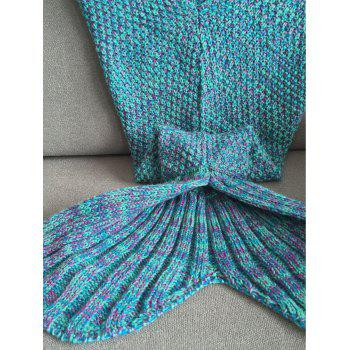 Fashion Knitted Classical Mermaid Blanket For Baby - COLORMIX