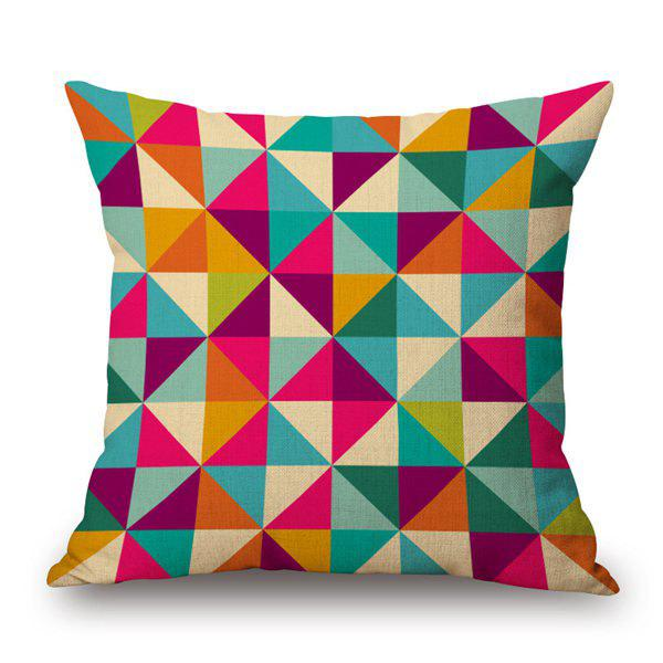 Contemporary Geometry Pattern Cotton and Linen Pillow Case(Without Pillow Inner) - COLORMIX