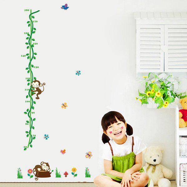 Stylish Monkey Vines  Pattern Wall Stickers For Children's Bedroom Decoration