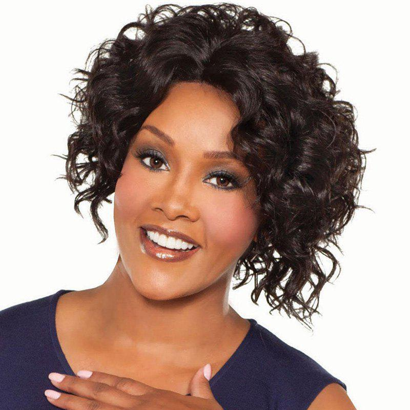 Fashion Women's Heat Resistant Synthetic Curly Wig - DEEP BROWN