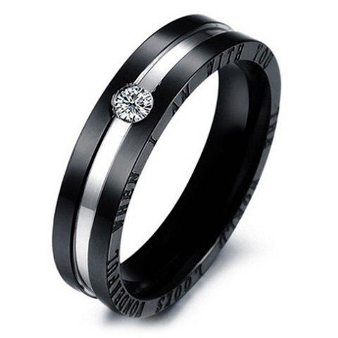 ONE PIECE Stylish Chic Rhinestone Inlaid Lover Couple Ring - ONE SIZE MALE