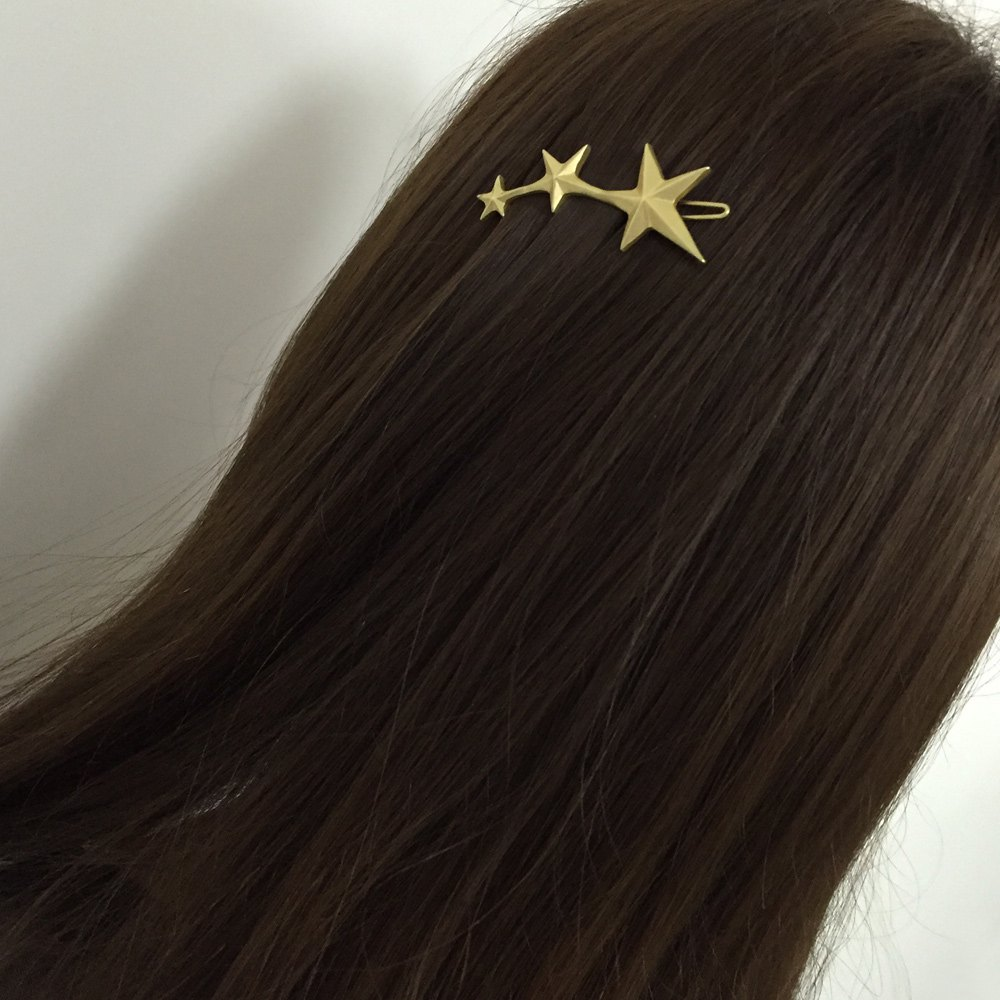 Stylish Solid Color Star Shape Hairpin For Women - GOLDEN