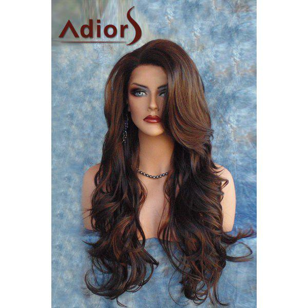 Fluffy Wave Synthetic Adiors Fashion Long Side Bang Capless Wig For Women