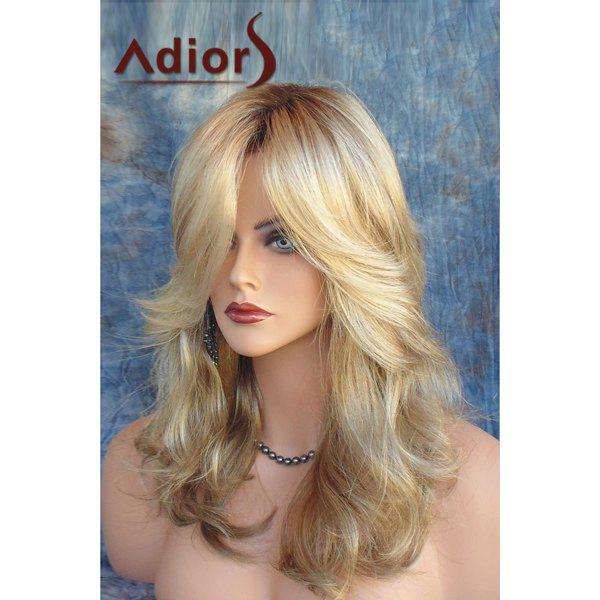 Shaggy Long Layered Wave Capless Stylish Blonde Mixed Brown Women's Synthetic Adiors Wig