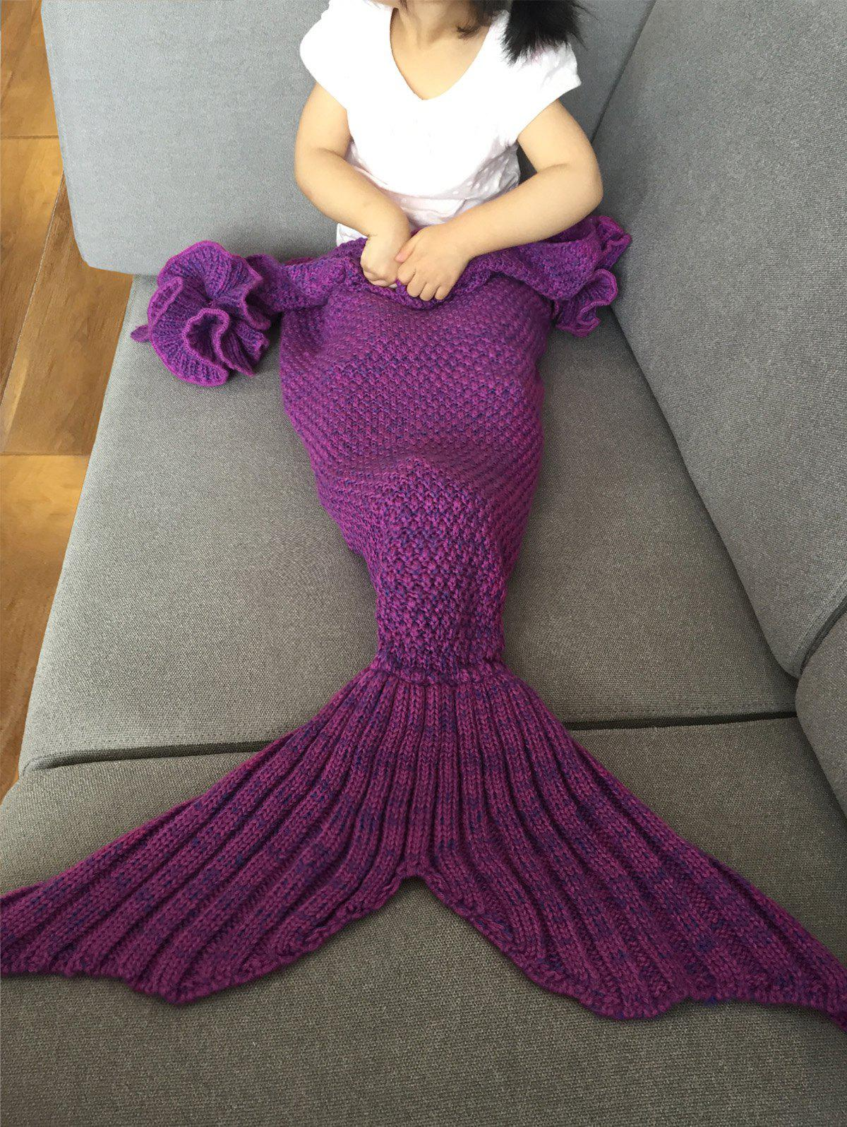 30cce79d9ac Fashion Knitted Falbala Shape Mermaid Tail Design Blankets For Baby