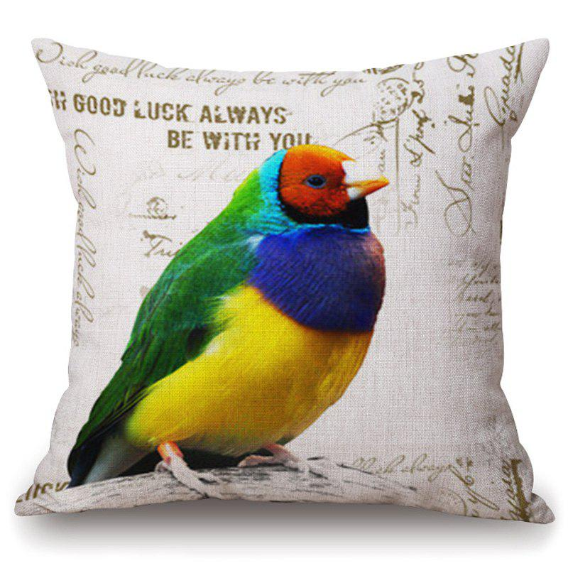 Vintage Colorful Parrot Pattern Square Shape Pillowcase (Without Pillow Inner) - COLORFUL