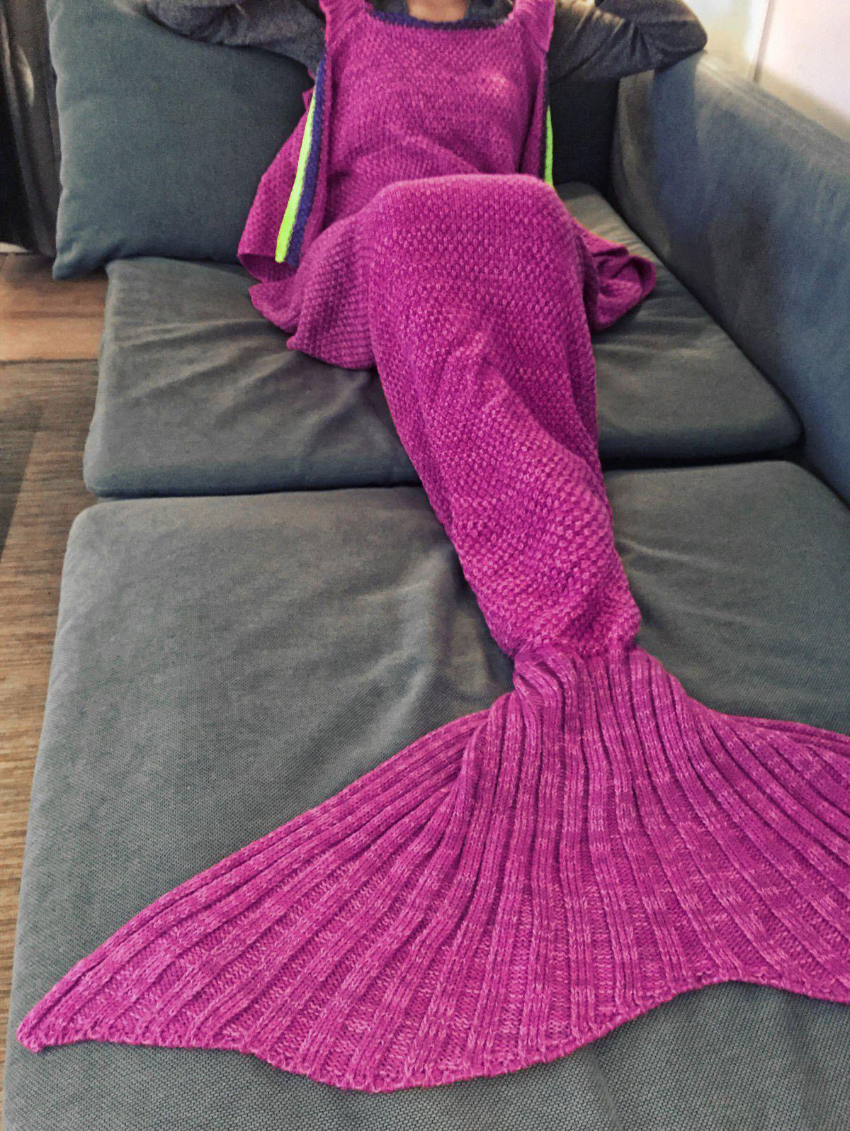 Stylish Sling Falbala Shape Mermaid Tail Design Blanket