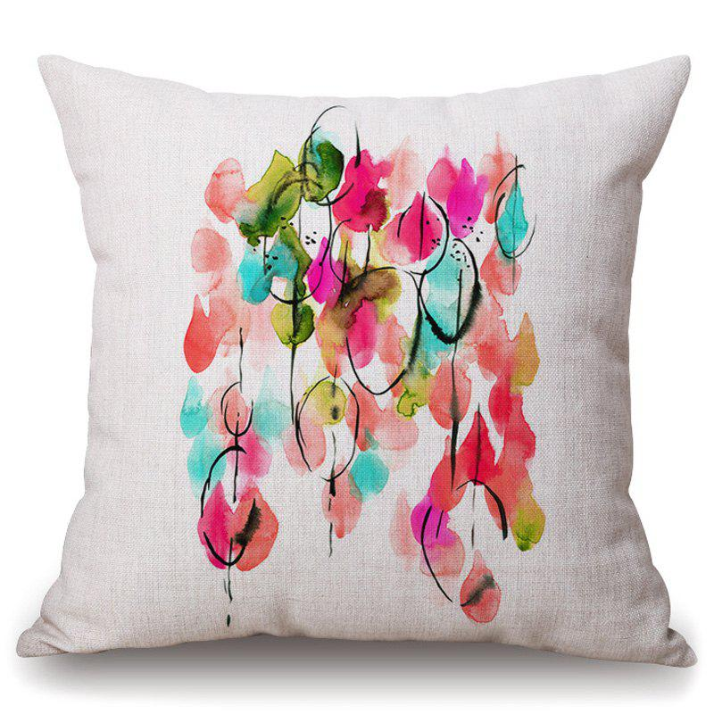 Stylish Colorful Art Abstraction Painting Pattern Flax Pillowcase (Without Pillow Inner)