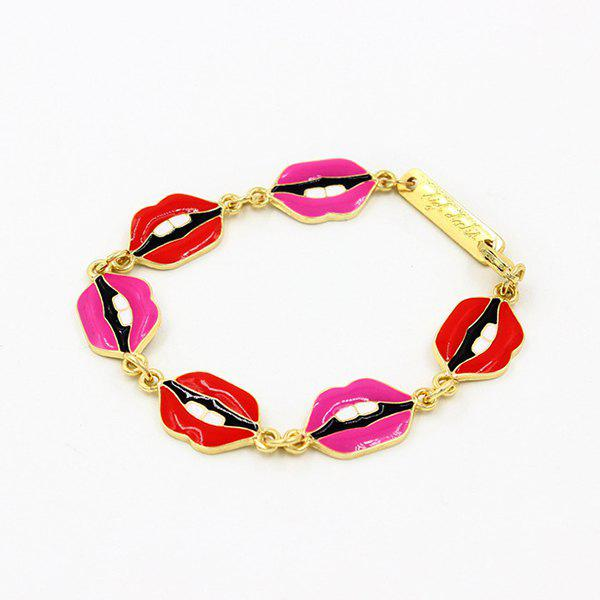 Engraved Lips Bracelet - GOLDEN