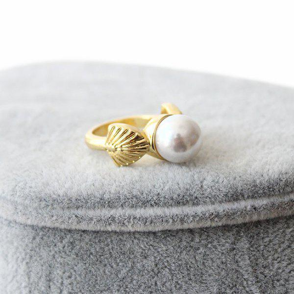 Faux Pearl Ring - GOLDEN ONE-SIZE