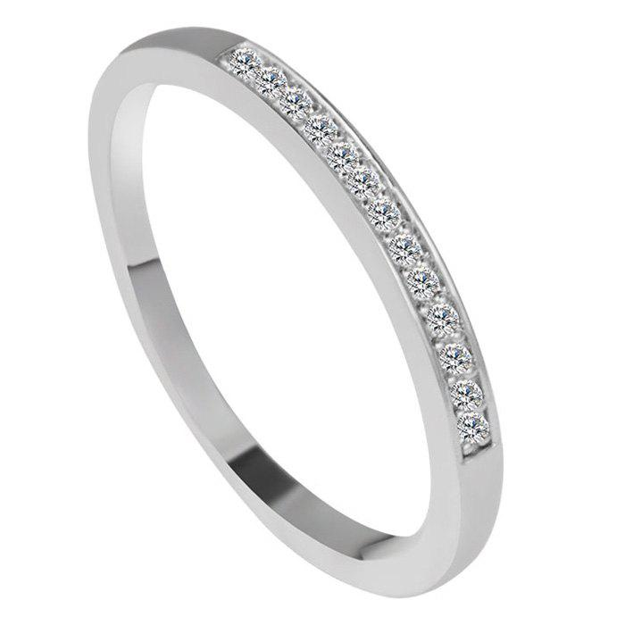 Elegant Shimmer Faux Zircon Ring For Women