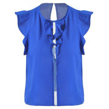 Sweet Women's Slimming Scoop Neck Flounce Blouse