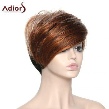 Stylish Women's Short Adiors High Temperature Fiber Wig - COLORMIX