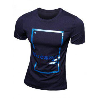 Casual Letter Printed Short Sleeve Men's T-Shirt