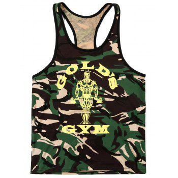 Fashion Camouflage Printed Men's Tank Top