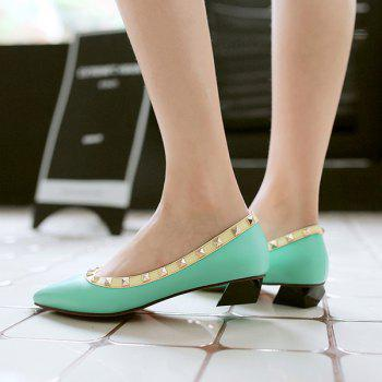 Studded Point Toe Flat Shoes - 41 41