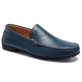 Leisure Stitching and Round Toe Design Men's Loafers