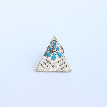 Triangle Water Drop Brooch