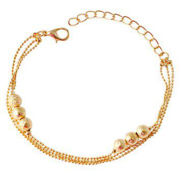 Bead Gold Plated Mini Popcorn Chain Bracelet