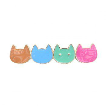 Cute Embellished Kitten Hairgrip For Women