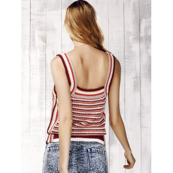 Trendy Striped Knit Tank Top For Women - STRIPE ONE SIZE(FIT SIZE XS TO M)