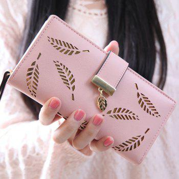 Trendy Leaves and Hollow Out Design Women's Wallet