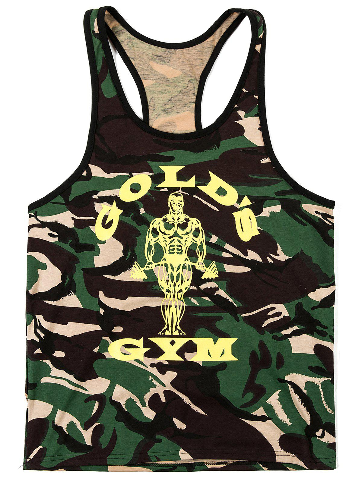 Fashion Camouflage Printed Men's Tank Top - CAMOUFLAGE 2XL