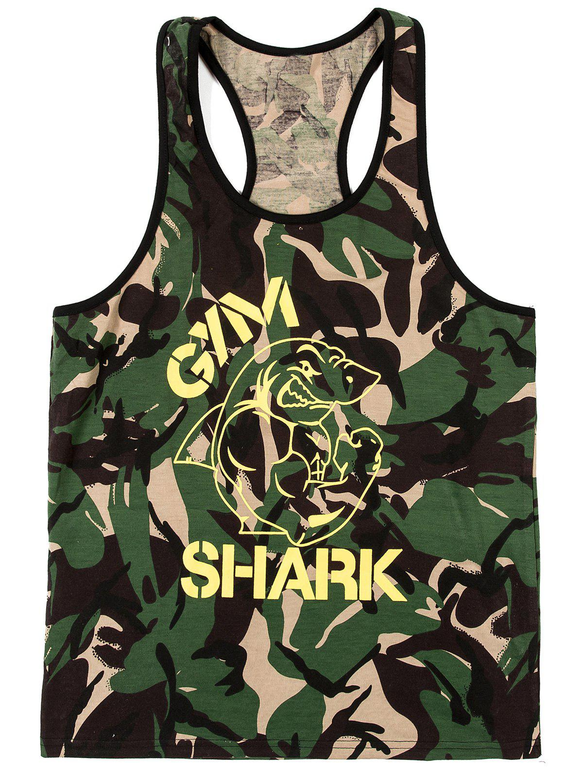 Fashion Camouflage Printing Men's Tank Top - CAMOUFLAGE 2XL