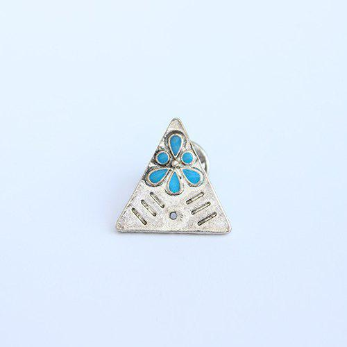 Triangle Water Drop Brooch - SILVER