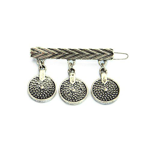 Punk Style Circle Hairpin For Women - SILVER