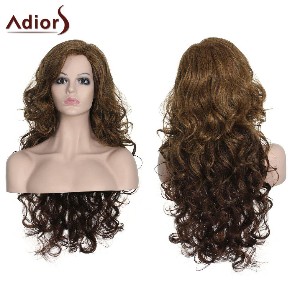 Stylish Women's Long Curly Adiors High Temperature Fiber Wig - COLORMIX