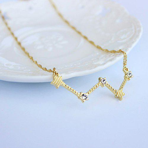 Star Constellation Rhinestone Necklace - GOLDEN