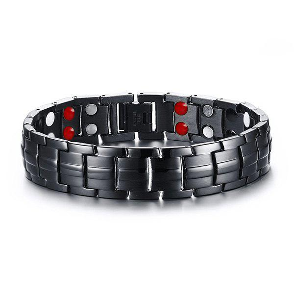 Chic Alloy Chains Bracelet Jewelry For Men - BLACK